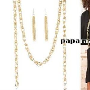 Gold Rope Necklace Set - Fashion Accessories